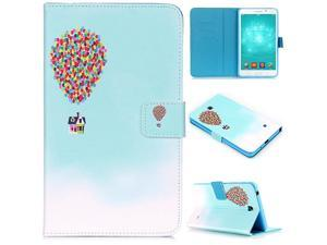 Tab 4 7.0 inch Case, (TM) Cartoon Design Flip Wallet Stand Case with Card/Money Slots Magnetic Closure Protect Cover for Samsung Galaxy Tab 4 7.0 inch T230/T231 (01 Balloon)