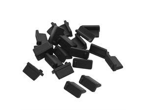 Black Soft Silicone USB Port Cover Anti Dust Plugs Stopper Protector Dustproof Cap for Female End 20PCS
