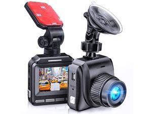 2020 Dash Cam for Cars 60 FPS 1920x1080p with IR Night Vision 1080P FHD Mini in Car Camera 170° Wide Angle Driving Recorder with G-Sensor, Parking Monitor Dashcam, Full HD, WDR, 2 Mounts