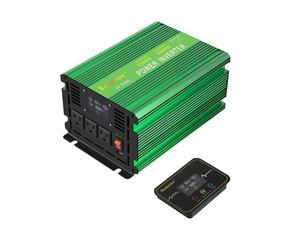 1500W Power Inverter DC 12V to AC 120V with LCD Display Wireless Rechargeable Remote Control, Modified Sine Wave Car Power Converter with 3 AC Outlets 2.1A USB for RV Outdoor Camping