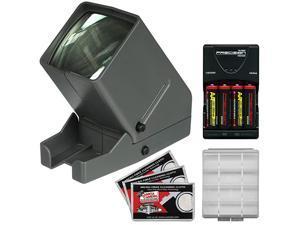 SV3 LED 35mm Film Slide Viewer with 4 Batteries amp Charger + Kit