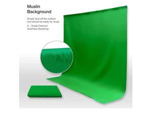Studio 5 ftW X 10 ftH Green Chromakey Photo Video Studio Fabric Backdrop Background Screen Pure Green Muslin Photography Studio JSAG510