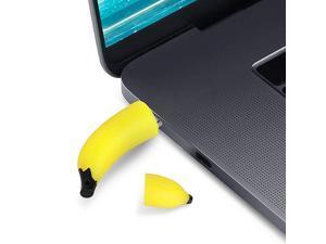 Cute USB Flash Drive 64GB  USB20 Cute Fruit Miniature Banana Shape USB Memory Stick Pendrive for Computer 64GB Thumb Drive USB Jump Drive Data Storage Business Gift for Girls Kids Presen