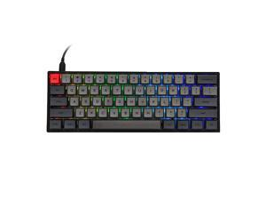 SKYLOONG SK61 61 Keys Hot Swappable Mechanical Keyboard with RGB Backlit NKRO IP6X Waterproof TypeC Cable for WinMacGaming Gateron Optical Black Black