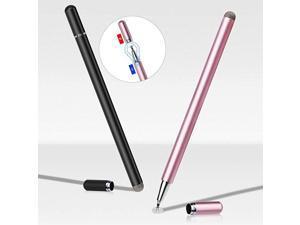 Stylus Pen 2 Pack  Disc Stylus Fiber Stylus Rosegold Black