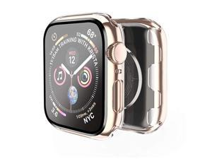 Case Compatible with Apple Watch Series 3 Series 2 38mm with Built in Tempered Glass Screen Protector All Around Hard PC Case Overall Protective Cover Black