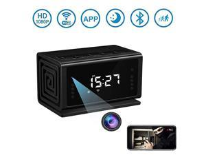 Hidden Camera  Spy Camera Wireless Security Nanny Cam with 1080P Full HD WiFi Night Vision Motion Detection Bluetooth SpeakerFM RadioCell Phone AppNo Sound Recording