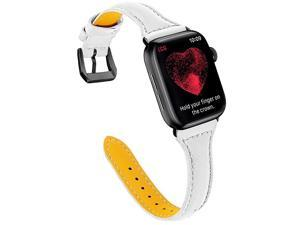 Compatible Apple Watch Band 42mm 44mm Top Grain Leather Band Replacement Strap for iWatch Series 5 Series 4Series 3Series 2Series 1Sport Edition
