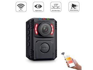 Police Body Camera for Law Enforcement Video Recorder 1080P Surveillance Body Worn Camera Wireless Mini Portable Body Camera with Phone App