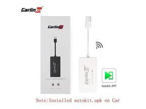 Autokit Wireless Carplay Dongle Compatible with Aftermarket Android Head Unit Version442 and Above CarplayAndroid AutoMirror Screen