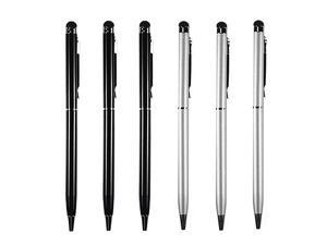 6 Pcs 2in1 Universal Touch Screen + Ballpoint Pen for SmartphoneTablets iPad iPhone Samsung etc
