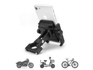 Motorcycle Phone Mount Adjustable Anti Shake Metal Bicycle Motorcycle Phone Holder for iPhone XXRXS876 Plus Samsung Galaxy S9S8S7S6 GPS Holds Devices up to 37 Width Black