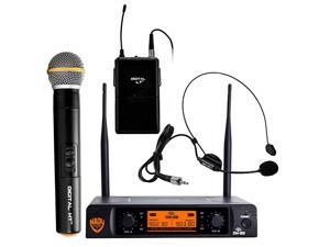 DW22 Dual Digital Wireless Combo System with 1 Handheld Microphone 1 bodypack amp 1 Headset HM3 Ultralow latency with QPSK modulation XLR and ¼ outputs