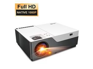 Projector Artlii Stone Full HD 1080P Projector Support 4K 6500L 300quot Home Theater Projector 50001 Contrast Ratio Compatible w TV Stick HDMI Laptop PPT Presentation