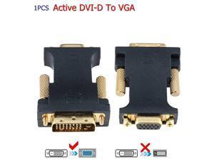 Active DVI 24+1 DVID M to VGA with Chip Active Converter BlackShorts