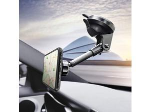 U Magnetic Phone Car Mount, Universal Phone Holder for Car Dashboard Windshield, One Hand Operation, Compatible with iPhone 11pro 11 X Xs 9, Samsung S10+ 10 S9+ 9 and More Smartphone
