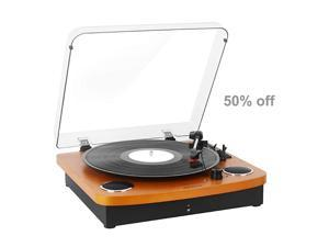 Record Player Turntable Vintage Vinyl Record Turntable PlayerBluetooth Record Player with SpeakerVinyl to MP3 RecordingRCA Output35mm Aux InputHeadphone Jack