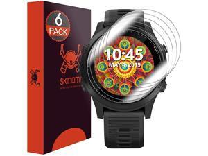 Garmin Forerunner 945 smartwatch Screen Protector [6-Pack],  TechSkin Full Coverage Screen Protector for Garmin Forerunner 945 Clear HD Anti-Bubble Film