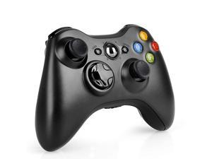 Controller for Xbox 360, 2.4GHZ Game Joystick Controller Gamepad Remote for Xbox 360 Slim Console, PC Windows 7,8,10 (Black)