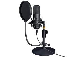 USB Microphone Kit 192KHZ24BIT  AUA04T PC Condenser Podcast Streaming Cardioid Mic Plug amp Play for Computer YouTube Gaming Recording