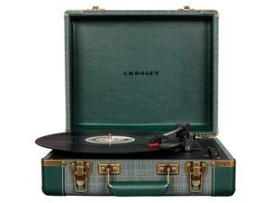 Executive Vintage Bluetooth 3Speed Portable Suitcase Turntable with USB Pine