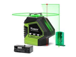 SelfLeveling Green Laser Level Cross Line with 2 Plumb Dots Laser Tool 360Degree Horizontal Line Plus Large Fan Angle of Vertical Beam with Up Down Points Magnetic Pivoting Base 621CG