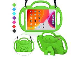 Kids Case for New iPad 102 8th 7th Generation 2020 2019 Light Weight Shockproof Shoulder Strap Handle Stand Case for New iPad 102Inch 2019 2020 Released Latest Model Green