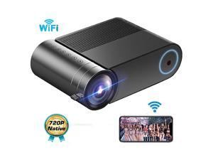 WiFi Mini Projector Portable Movie Projector Phone Outdoor Video Projector 720P Native Full HD 1080P Supported 3800 Lux Led Projector