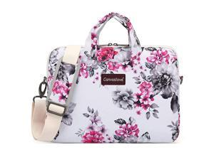 Chrysanthemum Pattern Water Resistant Laptop Shoulder Messenger Bag for MacBook Pro 16 inch and 14 inch 154 inch 156 inch Laptop