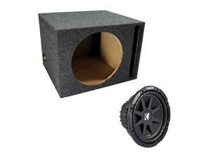 Package Single 12 Kicker Sub Box Vented Port Subwoofer Enclosure C12 Comp 300 Watts Peak