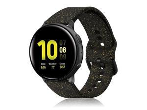 Compatible with Samsung Galaxy Watch 42mmGalaxy Watch ActiveActive2 Bands 20mm Shiny Bling Glitter Soft Silicone Strap Wristband Replacement for Galaxy Watch 42mmGear Sport Smartwatch