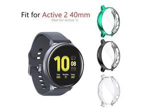 3 Pack Compatible for Samsung Galaxy Watch Active 2 Case 40mm 2019 HeavyDuty Overall Full Body Protective TPU AntiScratch Cover for Active2 40mmClearBlackGreen