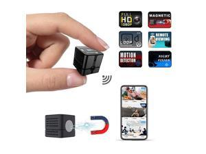 Spy Camera Wireless Hidden Camera Cop Spy Cam  WiFi Mini Body Camera Portable Home Security Cameras Covert Small Nanny Cam with App 1080P Night Vision Motion Activated Indoor and Outdoor