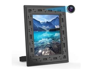 Camera Hidden WiFi Photo Frame 1080P Hidden Security Camera Night Vision and Motion Detect Wireless IP Nanny Camera with One Year Battery Standby Time and Instant Alerts to Smartphone Video Only