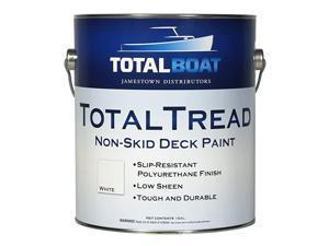 TotalTread NonSkid Deck Paint MarineGrade AntiSlip Traction Coating for Boats Wood Fiberglass Aluminum and Metals Gray Gallon