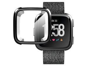 Compatible with Versa Screen Protector Case ScratchResistant Soft Slim TPU AllAround Protector Frame Case for Versa Watch Black
