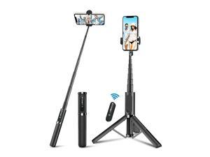 Selfie Stick Tripod  Lightweight Aluminum All in One Extendable Phone Tripod Grey Selfie Stick Bluetooth with Remote for iPhone Xs MAXXRXSX88 Plus77 Plus Galaxy S10S9S9 Plus More