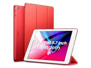 Yippee Trifold Smart Case for iPad 6th Generation 20182017 Not for iPad 102 Lightweight MultiAngle Viewing Stand Case Auto SleepWake for iPad 5th6th Gen Red