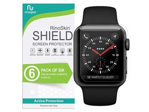 6-Pack) Apple Watch 42mm Screen Protector (Series 3 2 1)  Case Friendly iWatch Screen Protector for Apple Watch Series 3 42mm Accessory Clear Film