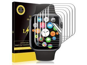 6 Pack Screen Protector Compatible with Apple Watch 40mm Series 6 SE Series 5 Series 4 and Apple Watch 38mm Series 3 Model No 0021 BubbleFree Flexible TPU Film