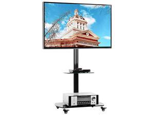 Universal Mobile TV Stand Rolling Cart for Most 3265 inch Flat Screen TV Monitor Tall TV Stand with Mount and Wheels Portable for Home Office Max Vesa 600x400mm