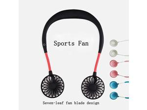 Neckband FanHand Free Personal FanHeadphone Design Wearable Portable USB Rechargeable Neckband Mini Fan 3 Speeds 510 Working Hours Blue
