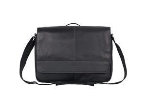 Risky Business Messenger FullGrain Colombian Leather Crossbody Laptop Case Tablet Day Bag Black One Size