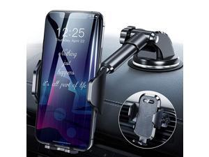 2020 Upgrade Universal Car Phone Mount Cell Phone Holder for Dashboard Windshield Air Vent Long Arm Compatible with iPhone 12 SE 11 Pro Max XR XS X Samsung Galaxy Note 20 S20 S10 S9