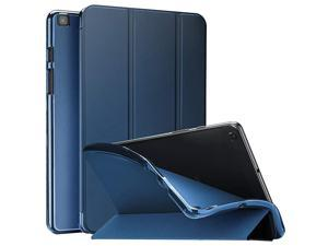 Galaxy Tab A 80 2019 Case T290 T295 Soft Slim Trifold Stand Folio Case with Flexible TPU Translucent Frosted Back Cover for 80 Inch Galaxy Tab A 2019 SMT290 SMT295 Navy