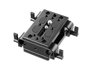 Camera Tripod Mounting Baseplate w15mm Rod Clamp Rail Block for TripodShoulder Support System 1798