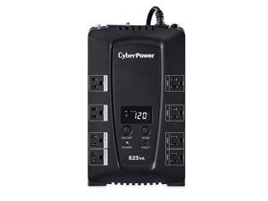 CP825LCD Intelligent LCD UPS System 825VA450W 8 Outlets CompactBlack