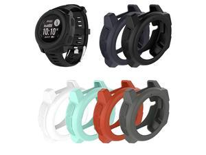 Compatible Silicone Protective Cover Cases Bezel Protectors Replacement for Garmin Instinct,Instinct Solar Watch