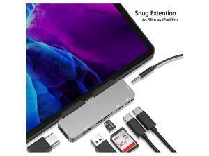 C HUB for iPad Pro 2018202011129Adapter for iPad Pro7 in 1 iPad Pro Hub with 4K HDMI35mm Headphone Jack30C PD ChargingDataC Earphone JackSDMicro SD Card Reader