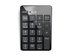Bluetooth Wireless Numeric Keypad 20 Key Black Numpad Compatible with iMac MacBook iPad Pro Microsoft Surface ProGo PC MacOS Windows